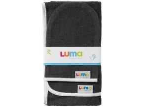 Dětský froté ručník a žíňka LUMA - dark grey