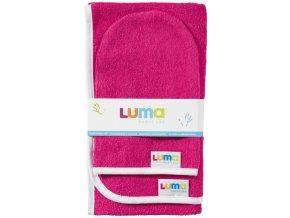 Dětský froté ručník a žíňka LUMA - magneta pink