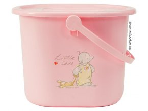 Kyblík na pleny s víkem Bébé-Jou Humphrey růžový