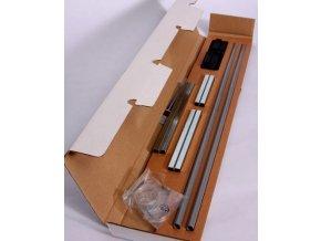 Prodloužení zábrany Babydan Premier 2 ks á 7cm stříbrná,černé kování