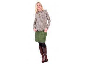 Těhotenské tričko Rialto Greagorry hnědobéžové 0159 (Dámská velikost 36)