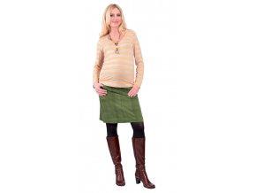 Těhotenské tričko Rialto Reves žluto-šedé pruhy 0277 (Dámská velikost 36)