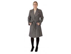 Dámský kabát Bomb černobílý 0144