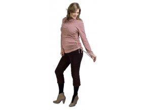 Těhotenské tričko Rialto Rollot červený pruh 0157 (Dámská velikost 36)