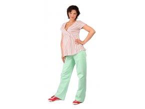 Těhotenské tričko Rialto Doncols růžové pruhy 0267 (Dámská velikost 36)