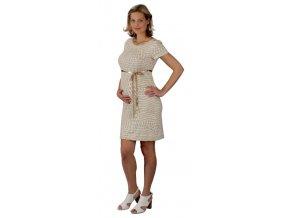 Slušivé těhotenské šaty z elastického materiálu Rialto