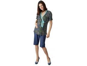 Těhotenské a kojicí tričko Rialto DOMPY zvířecí motiv 0383 (Dámská velikost 36)