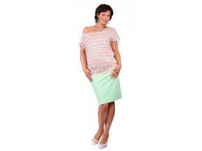 Těhotenské tričko Rialto Divion růžové pruhy 0267 (Dámská velikost 36)