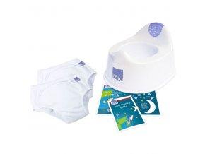 PTK sada na nocnik obsahuje nočník Bambinomio a 2 učící kalhotky v neutrální bílé barvě