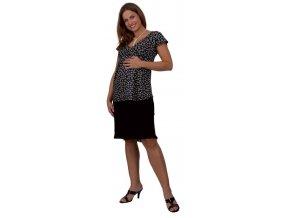 Těhotenská sukně Rialto Sanem černá 01245