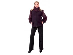 Těhotenský kabátek Rialto Maffe fialová 0086