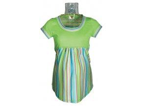 Těhotenské tričko Rialto Salice zelená + růžový pruh 0059 (Dámská velikost 36)