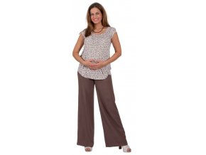 Těhotenské tričko Rialto Remich fialový květ 8085 (Dámská velikost 36)