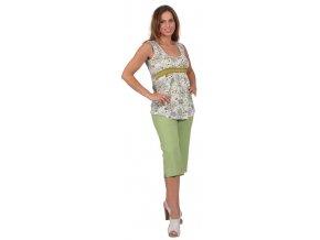 Těhotenské 3/4 kalhoty Rialto Verghia zelené 19174 (Dámská velikost 36)
