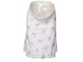 Těhotenská sukně Rialto Kehlen bílá výšivka 0114