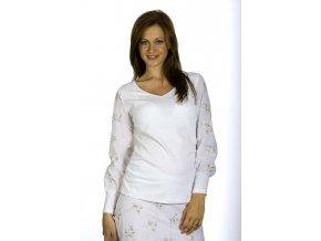 Těhotenská halenka Rialto Bissen bílá výšivka 0114