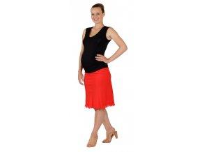 Těhotenská sukně Rialto Sanem lněná červená 01242