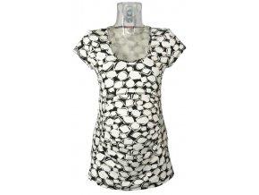 Těhotenské tričko Rialto Piana bíločerná 7694 (Dámská velikost 38)