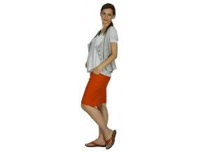 Těhotenské kraťasy Rialto Ajacio lněné červené 01242 (Dámská velikost 36)