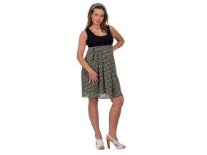 Těhotenské šaty Rialto Lugny zelené 0212 (Dámská velikost 38)