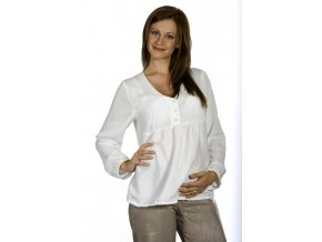 Těhotenská halenka Rialto BOUS smetanová 5845