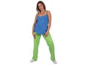 Těhotenské tepláky Rialto LILLY zelené 0195 (Dámská velikost 40)