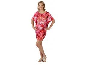 Těhotenské šaty Rialto Loupy červený potisk 0295 (Dámská velikost 36)