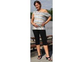 Těhotenské 3/4 kalhoty Rialto Inor černé 0188 (Dámská velikost 36)