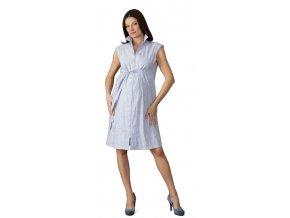 Těhotenské a kojící šaty Rialto Leme modrobílý proužek 0393 (Dámská velikost 36)