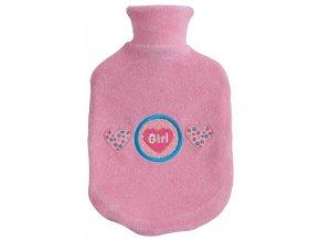 Dětský termofor Bébé-Jou s froté obalem, Girl růžová