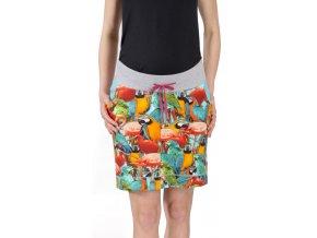 Těhotenská sukně Rialto Bogny papoušci 0501
