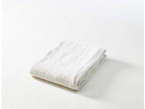 Dětská háčkovaná  bavlněná deka Babydan bílá