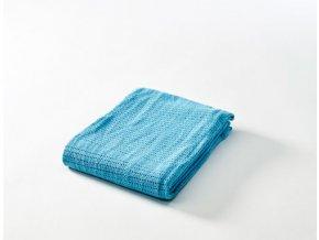 Dětská háčkovaná  bavlněná deka Babydan tyrkysová