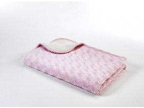 Dětská deka double fleece oboustranná 75x100 Pink