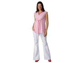 Těhotenské kalhoty Rialto Stone bílá riflovina 0401 (Dámská velikost 40)