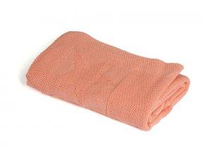 Pletená deka bavlna,růžová,hvězdy, Rialto Baby