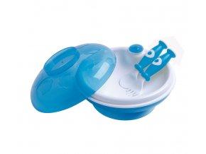 dBb Dětský ohřívací talíř s víkem a lžící s vidličkou