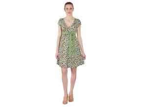 Těhotenské a kojící šaty Rialto Larochette tyrkys puntík 0258 (Dámská velikost 36)