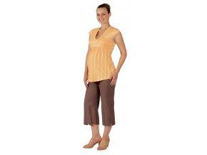 Těhotenské tričko Rialto Corrano oranžové 7816 (Dámská velikost 36)