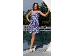 Těhotenské šaty Rialto Lonny bílomodré 0209 (Dámská velikost 38)
