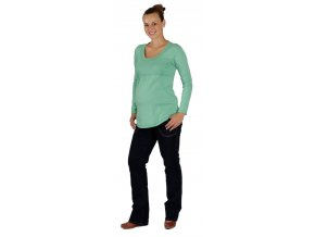 Těhotenské tričko Rialto Borvemore zelené 0071 (Dámská velikost 34)