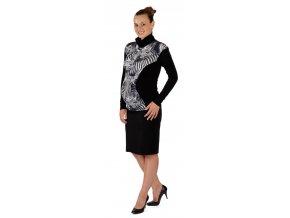 Těhotenské tričko Rialto Ramon černá se zebrou 0156 (Dámská velikost 36)