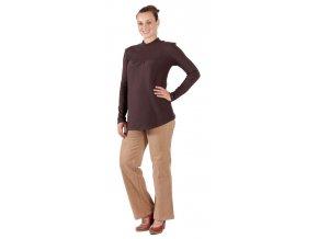 Těhotenské manžestrové kalhoty Rialto Stornoway béžové19231 (Dámská velikost 36)