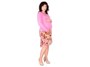 Těhotenská sukně Rialto BEERS červený vzor 0355 ea24fe0c97