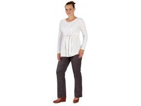 Těhotenské kalhoty Rialto Chicio hnědočerný melír 0241 (Dámská velikost 36)