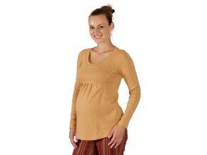 Těhotenské tričko Rialto Borvemore okrové 0072 (Dámská velikost 36)