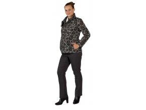 Těhotenský kabátek Rialto Maffe černý vzor 0289