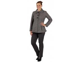 Těhotenský kabátek Rialto Marle černobílá 0144