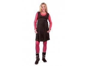Těhotenské šaty Rialto Linde hnědé 0280 (Dámská velikost 36)
