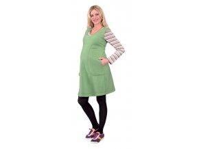 Těhotenské šaty Rialto Linde zelené 0282 (Dámská velikost 36)